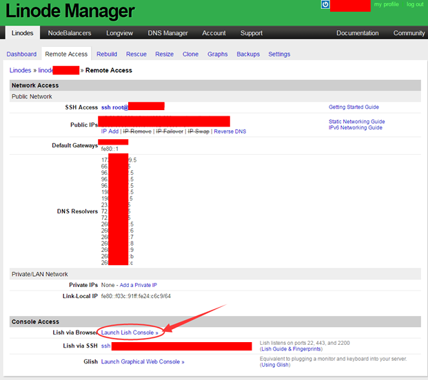 linode VPS 宝塔Linux面板安装 - Remote Access