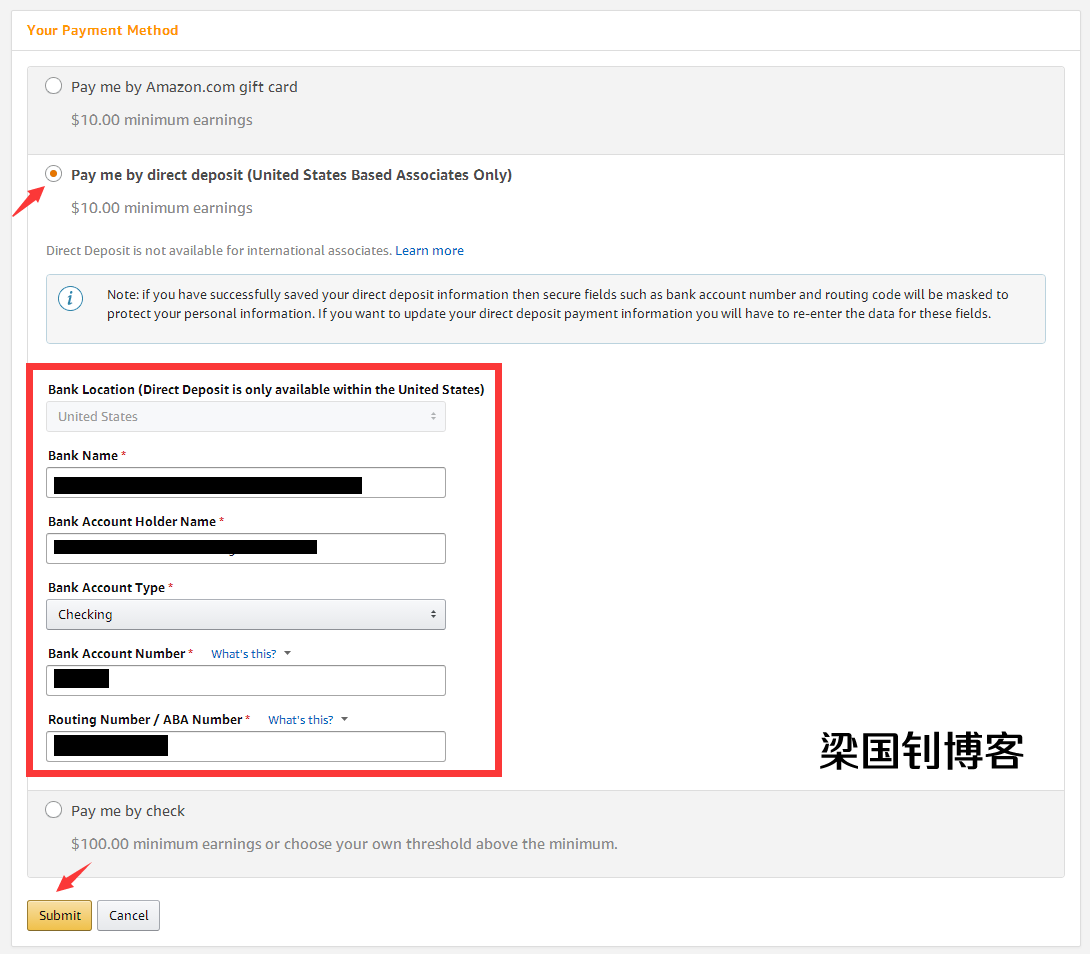 amazon affiliate 绑定Payoneer P卡账户